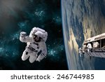 A Team Of Astronauts Perform...
