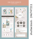 flat one page website template...