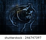 human geometry series. backdrop ...   Shutterstock . vector #246747397