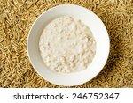 oat milk porridge in a white... | Shutterstock . vector #246752347