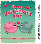 vintage valentine poster design ... | Shutterstock .eps vector #246753859
