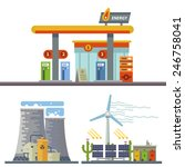 energy and gas station. urban... | Shutterstock .eps vector #246758041