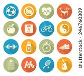 health and fitness icons in... | Shutterstock .eps vector #246760309