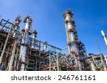 refinery industry tank... | Shutterstock . vector #246761161