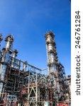 refinery industry tank... | Shutterstock . vector #246761284
