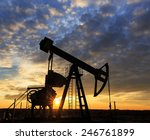 scenery with oil and gas well...