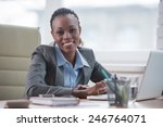 pretty cheerful african... | Shutterstock . vector #246764071