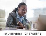 pretty african business woman... | Shutterstock . vector #246765541