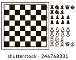 Chessboard Or Character Set Of...