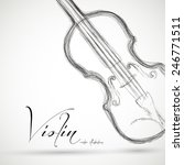 music violin design over... | Shutterstock .eps vector #246771511