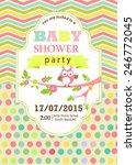 baby shower card | Shutterstock .eps vector #246772045