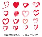 vector hand drawing heart shape ... | Shutterstock .eps vector #246774229