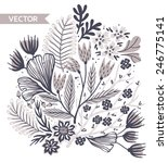 vector floral illustration | Shutterstock .eps vector #246775141