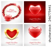 set of happy valentines day... | Shutterstock .eps vector #246775441