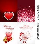 set of happy valentines day... | Shutterstock .eps vector #246775531