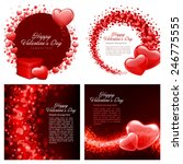 set of happy valentines day... | Shutterstock .eps vector #246775555
