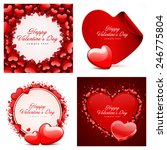 set of happy valentines day... | Shutterstock .eps vector #246775804