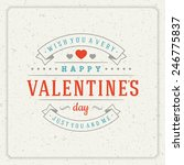 happy valentine's day greeting...   Shutterstock .eps vector #246775837