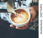 latte art coffee vintage color... | Shutterstock . vector #246776941