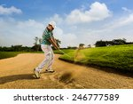 golfer hitting the ball on the... | Shutterstock . vector #246777589