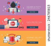 flat design concepts for hacker ... | Shutterstock .eps vector #246785815