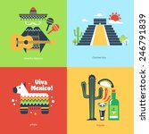 flat travel mexico | Shutterstock .eps vector #246791839