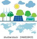 save world green energy | Shutterstock .eps vector #246818431