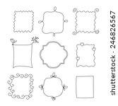 set of simple funny black frame ... | Shutterstock .eps vector #246826567