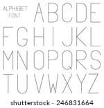 high and thin geometrical font  ...