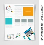 layout business flyer or...