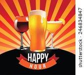 happy hour burst design eps 10... | Shutterstock .eps vector #246834847