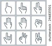 vector hands icons set  finger...   Shutterstock .eps vector #246835501
