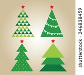 christmas tree set | Shutterstock .eps vector #246838459