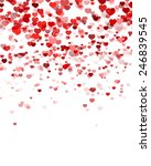 abstract heart background | Shutterstock .eps vector #246839545