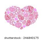 outline heart. illustration for ...