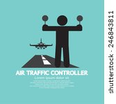 air traffic controller graphic... | Shutterstock .eps vector #246843811