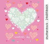valentines card template | Shutterstock .eps vector #246858664