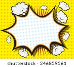 comic book speech bubble  pop... | Shutterstock .eps vector #246859561