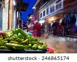 Night Market  In Kathmandu Nepal
