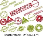 collection of 22 red grunge... | Shutterstock .eps vector #246868174