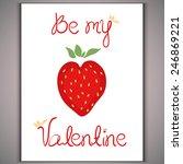 strawberry red heart on white... | Shutterstock .eps vector #246869221