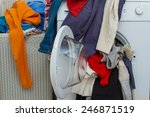 basket and wash machine of... | Shutterstock . vector #246871519