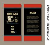anniversary invitation card | Shutterstock .eps vector #246873025