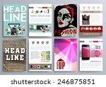 set of design templates for... | Shutterstock .eps vector #246875851