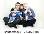 a sweet happy family | Shutterstock . vector #246876481
