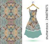 vector fashion illustration ... | Shutterstock .eps vector #246878071