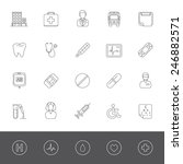 medical icons | Shutterstock .eps vector #246882571