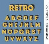 vintage 3d alphabet | Shutterstock .eps vector #246886714