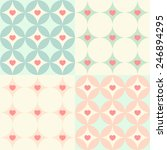 set of four retro seamless... | Shutterstock .eps vector #246894295