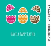 simple easter wishing card with ... | Shutterstock .eps vector #246899521